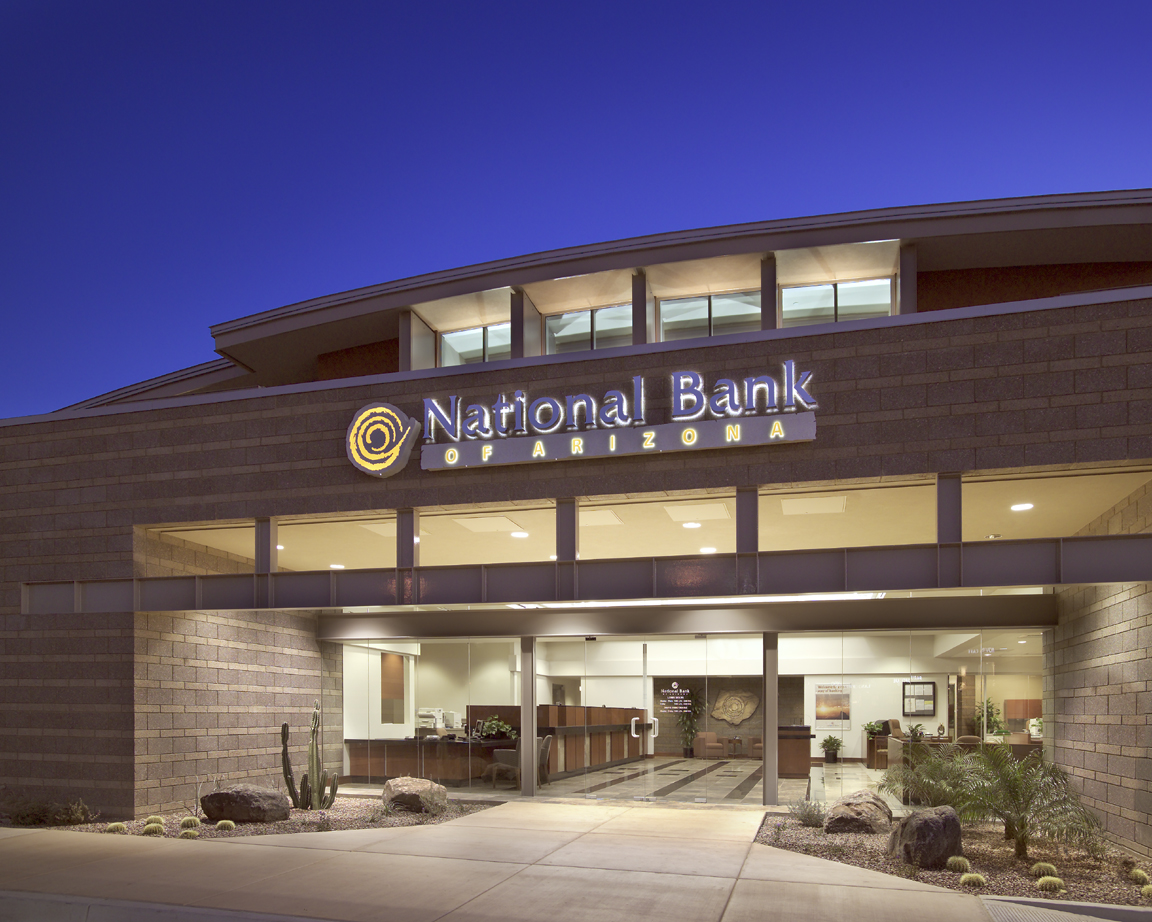 national bank of arizona front entry way design